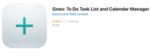 Gneo (for iPhone): To-do List App